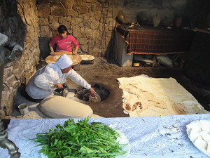 Traditional-Armenian-bread-lavash-making-in-tonir-